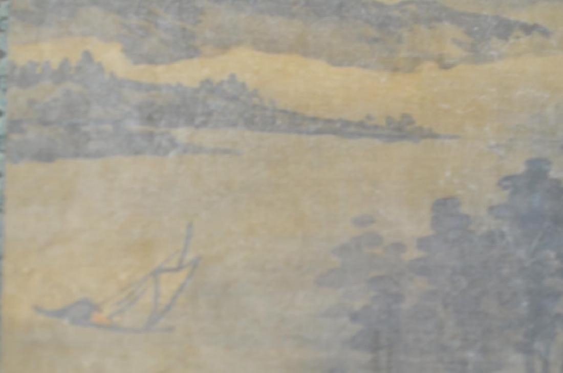 FANG SHIZHE (1692-1751) TWO LANDSCAPE PAINTINGS - 8