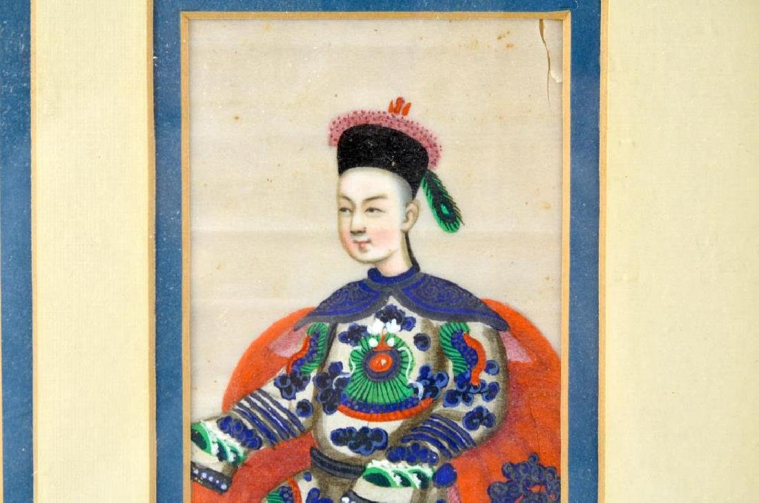 CHINESE EXPORT PITH PAINTING OF TWO FIGURES - 5