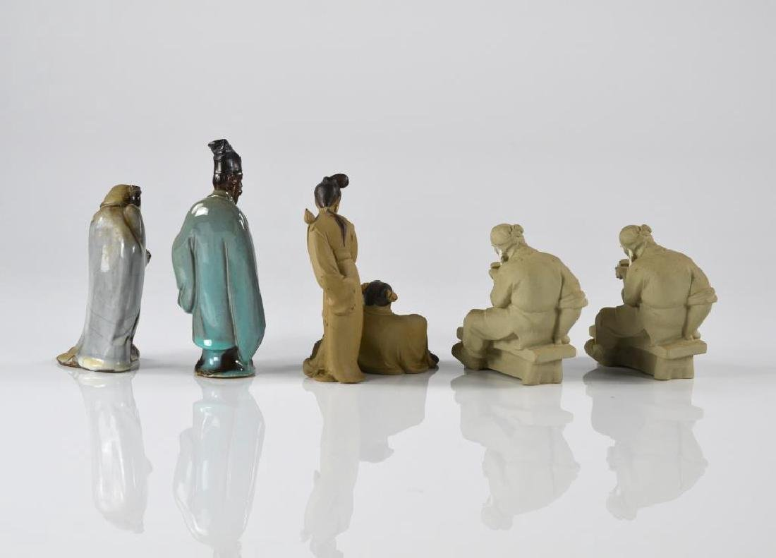 FIVE CHINESE SHIWAN POTTERY FIGURES GROUP - 2