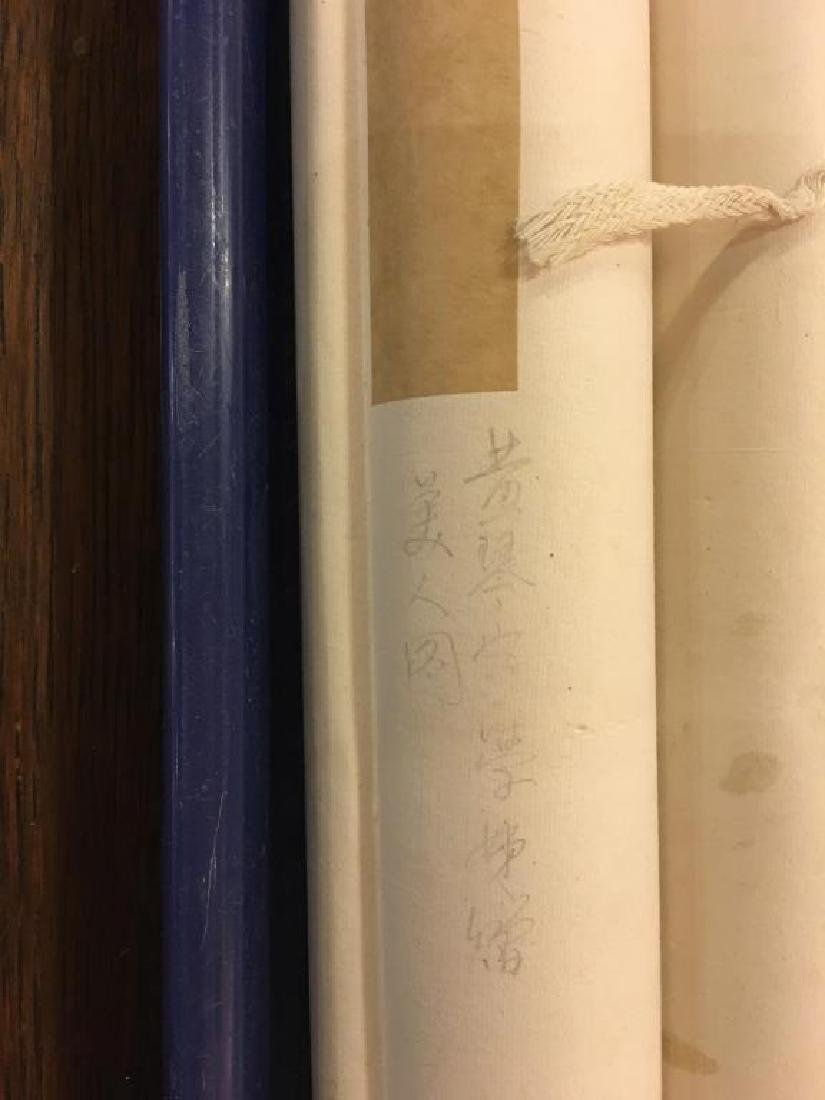Tray lot of Chinese scroll paintings - 3