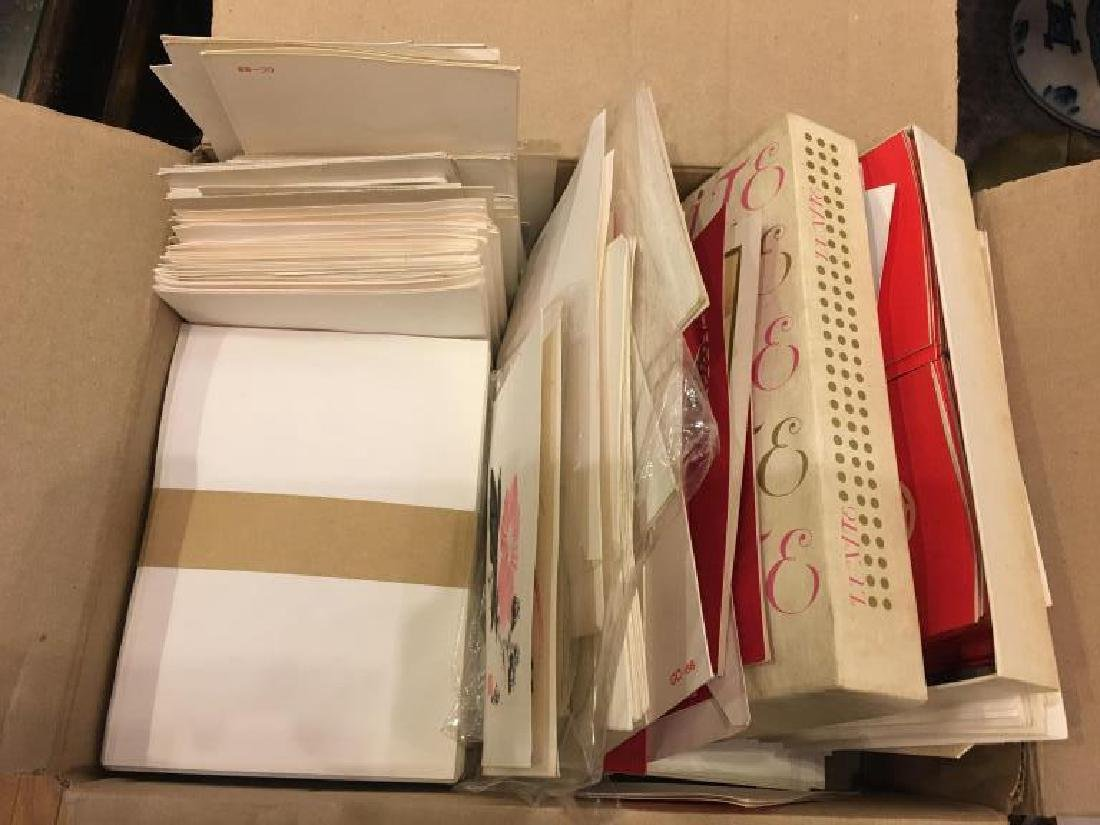 Tray lot of Chinese Christmas cards