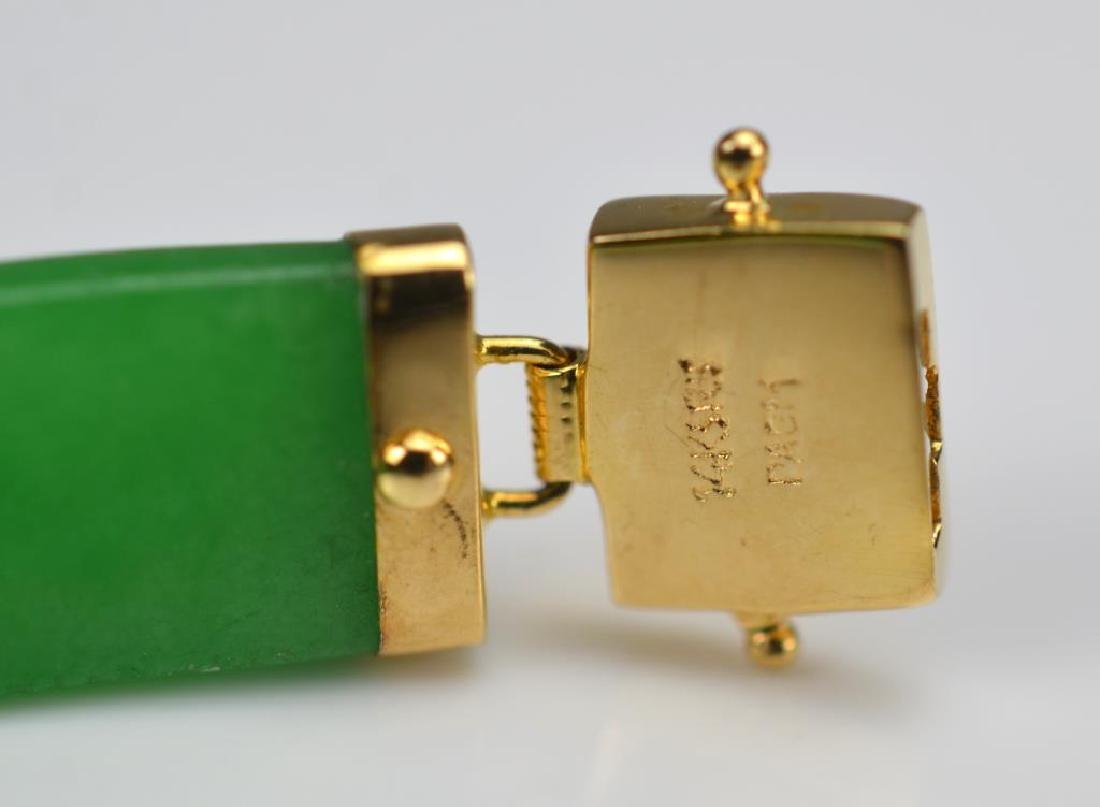 Chinese jadeite and gold bracelet - 3