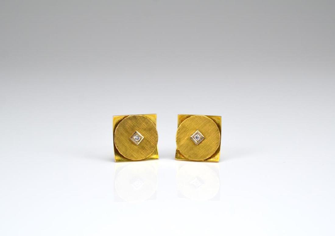 Pair of gold and diamond cufflinks