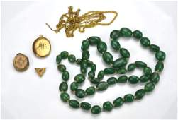Lot of gold-filled jewellery and necklace