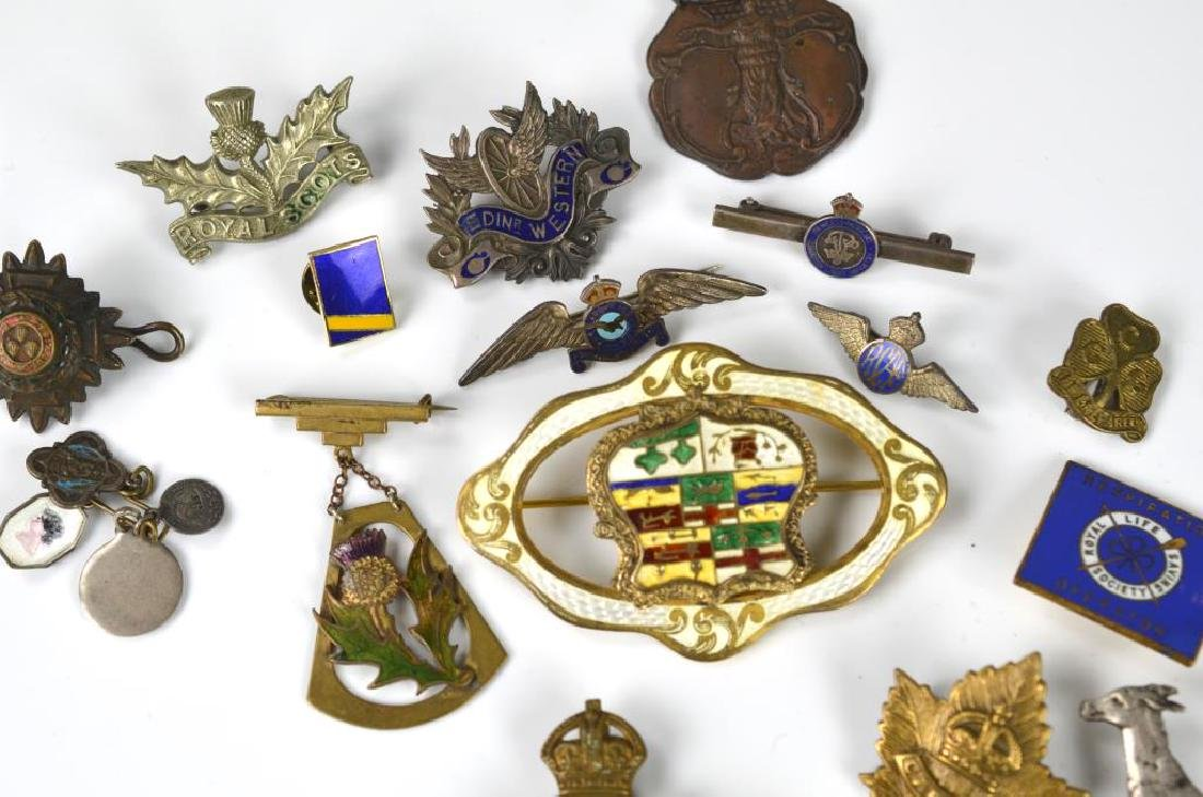 Lot of commemorative and military badges & pins - 2