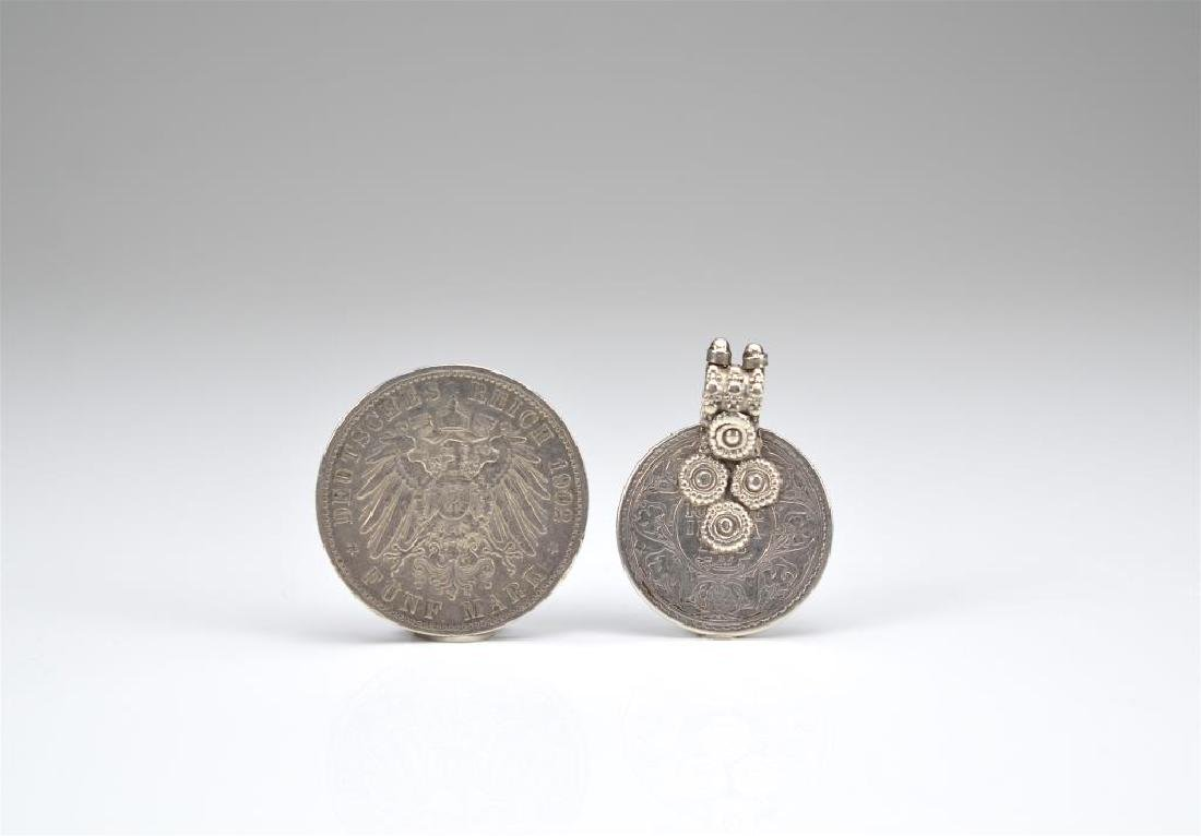 German silver coin and coin as pendant