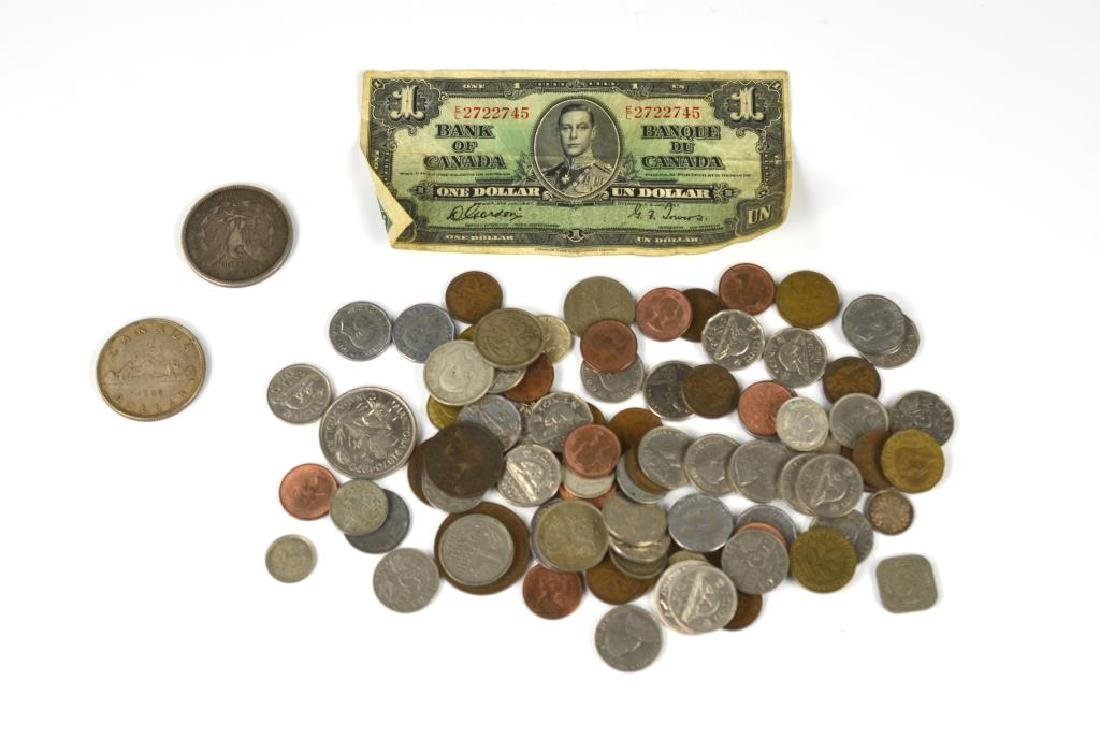 Lot of assorted coinage including silver