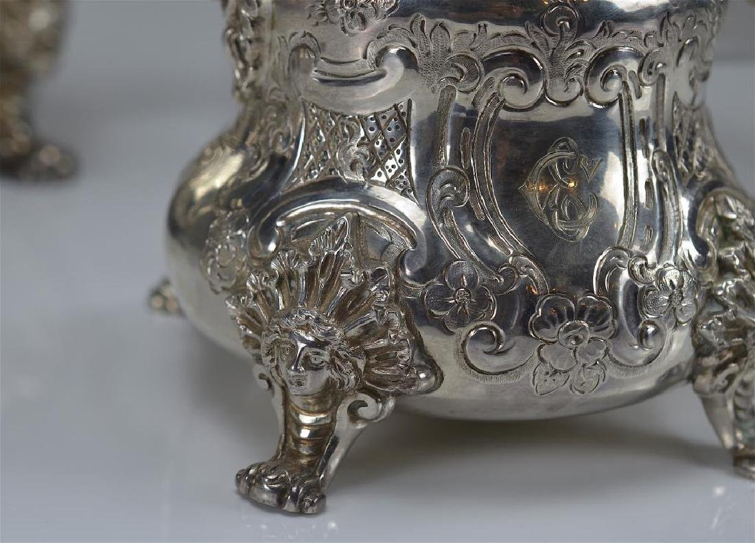 Victorian style English silver tea and coffee set - 4