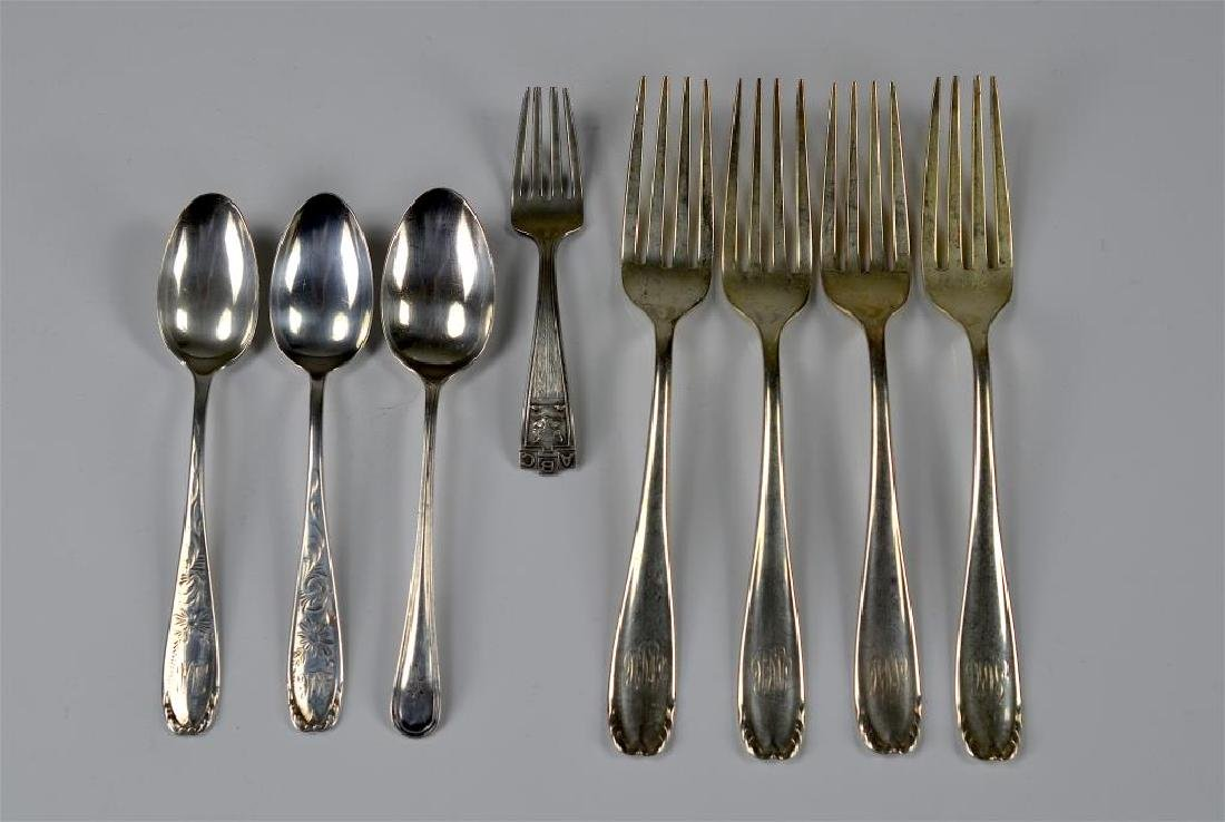 American silver forks and spoons