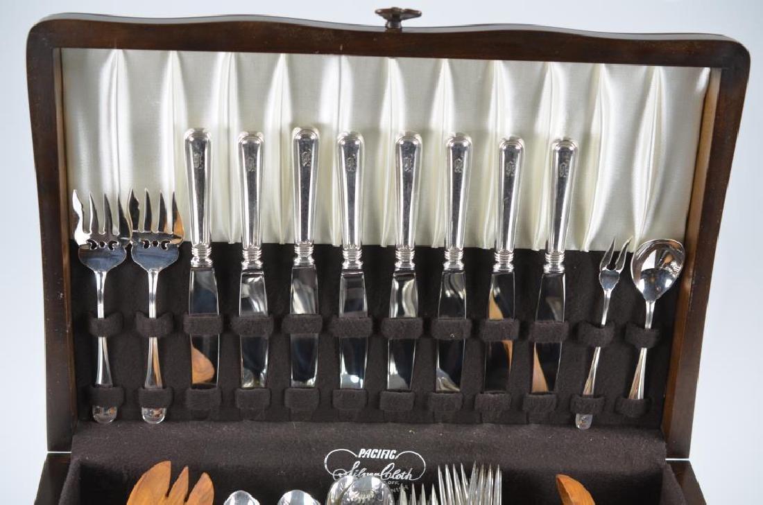 Cased set of Birks Regency Plate York flatware - 4