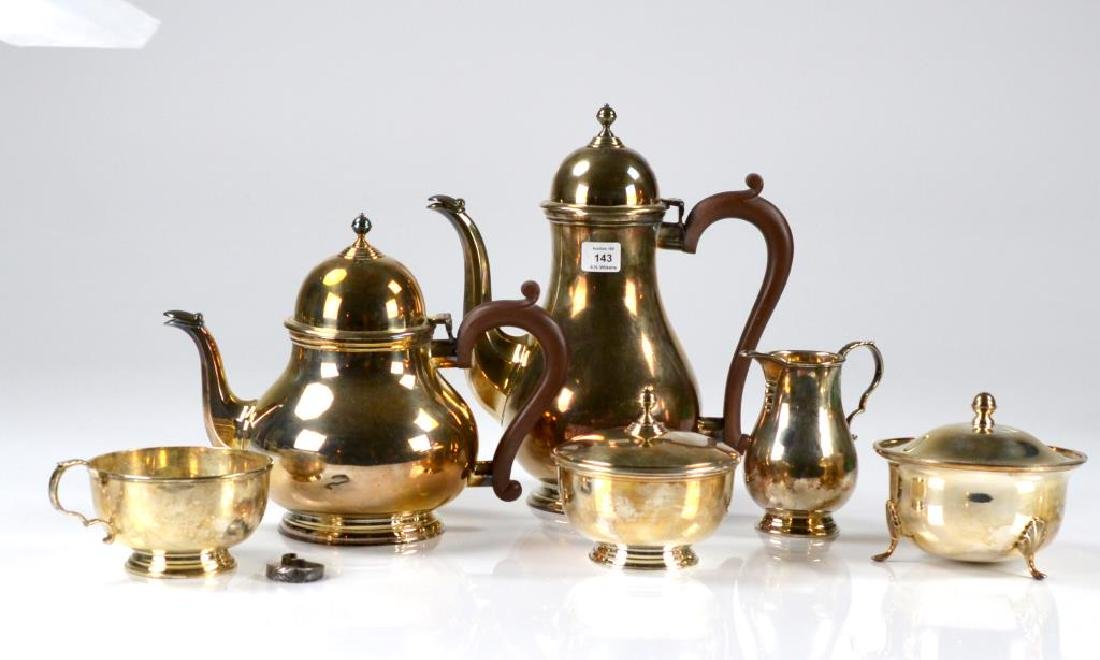 English Lettner silver plate tea and coffee set