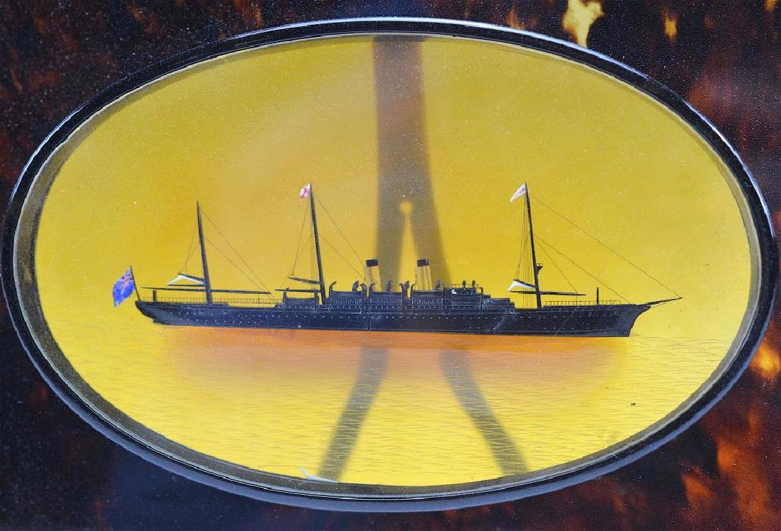 Tortoise shell framed steamship - 2