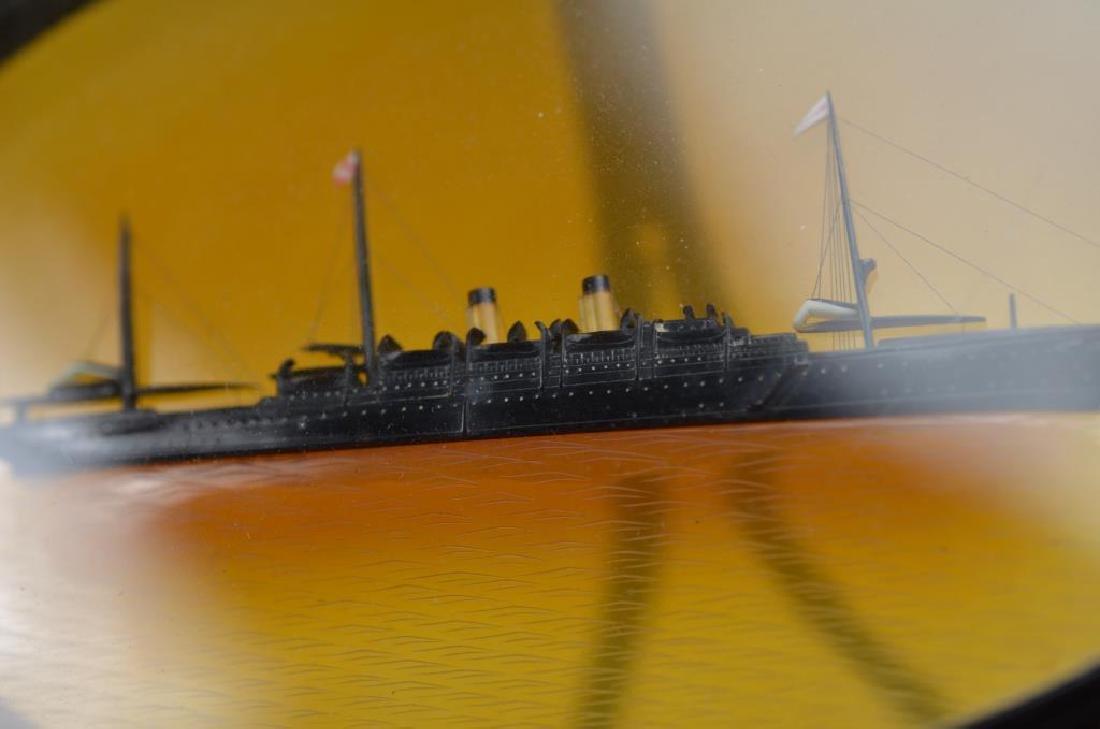 Tortoise shell framed steamship - 4