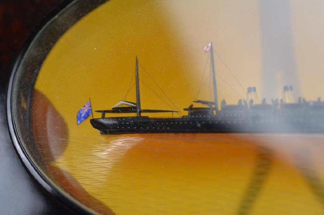 Tortoise shell framed steamship - 5