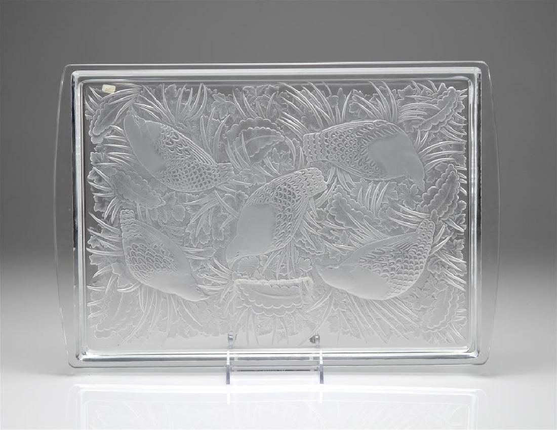 Lalique Perdrix Plateau serving tray