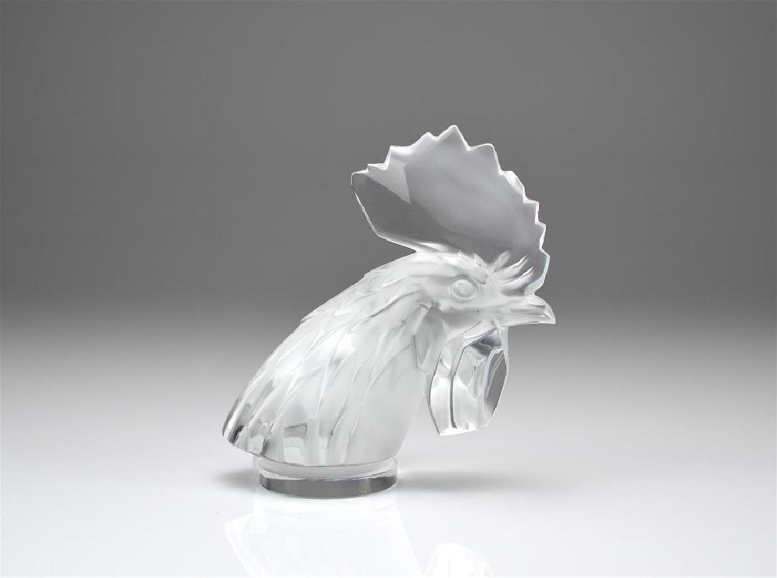Lalique rooster head mascot