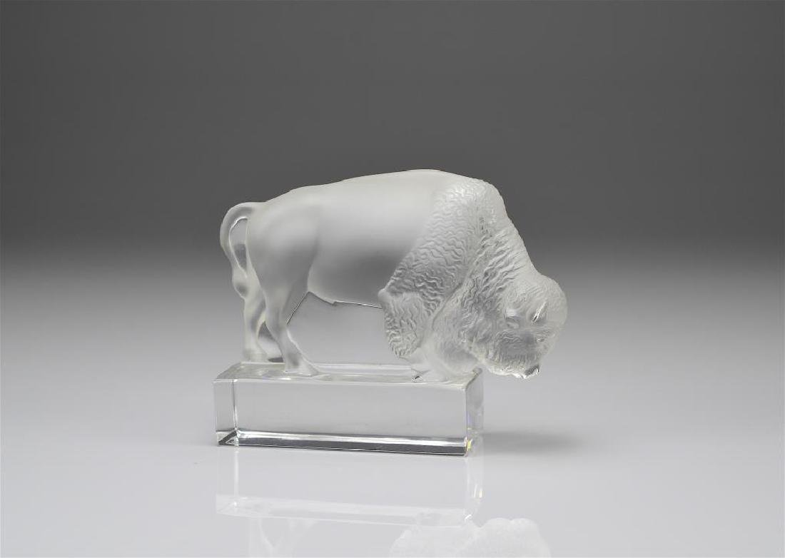 Lalique Bison paperweight