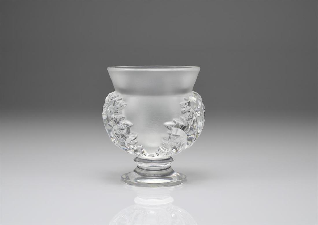 Lalique St. Cloud glass vase
