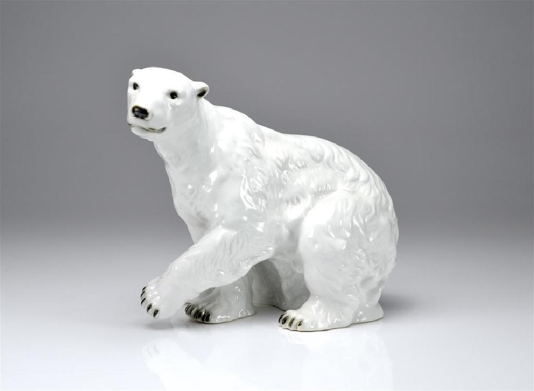 Royal Dux porcelain polar bear