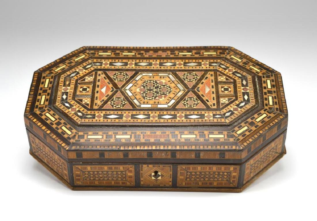 Ottoman Persian Mother of Pearl inlaid wood box
