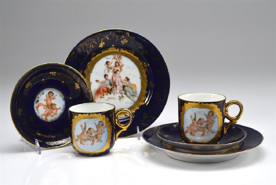 Two early 20th C German porcelain trios
