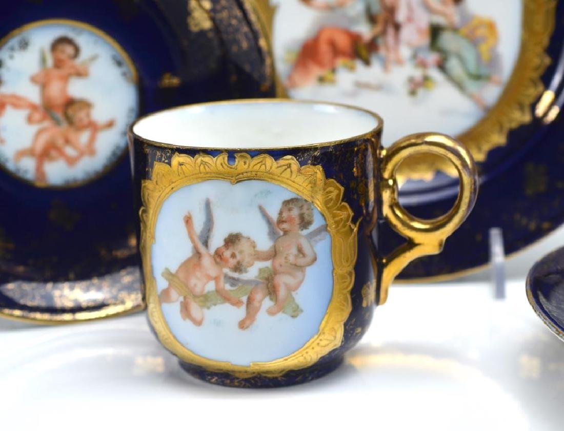 Two early 20th C German porcelain trios - 4