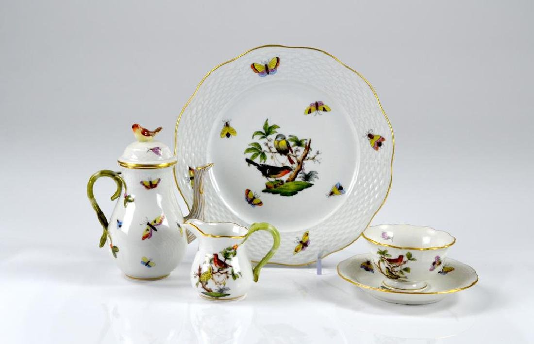 Five pieces of Herend porcelain