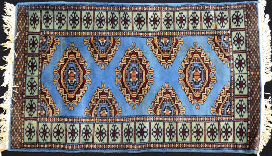 Blue ground Persian mat