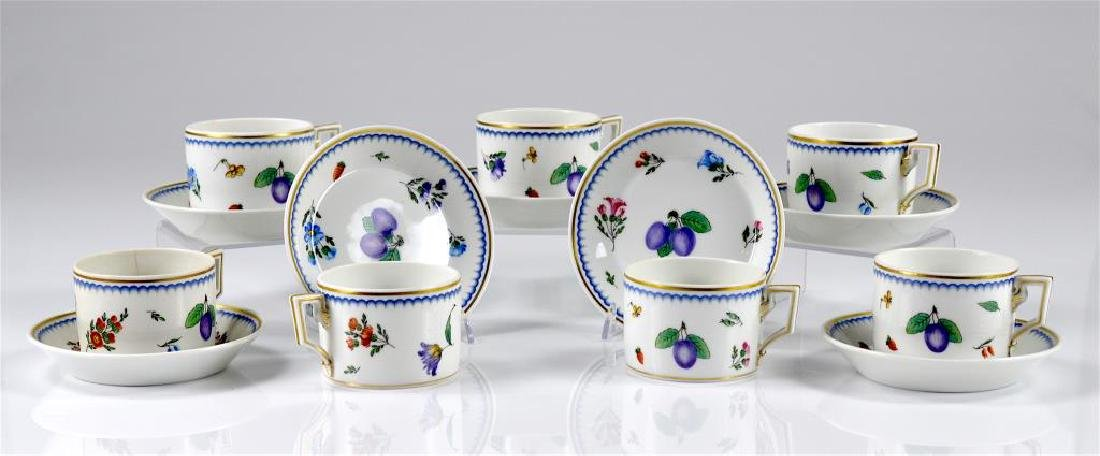 Seven Richard Ginori Italian Fruit cups & saucers