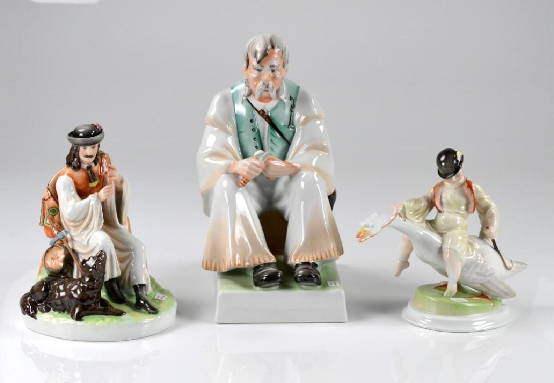 Three Hungarian figurines