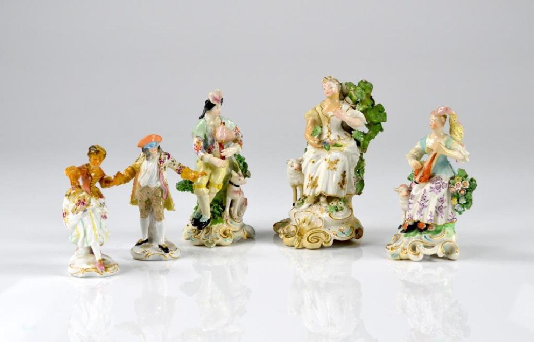 Five various 19th C. porcelain figures