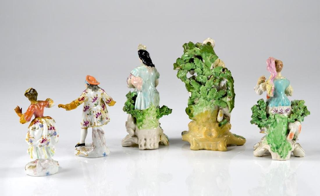 Five various 19th C. porcelain figures - 2