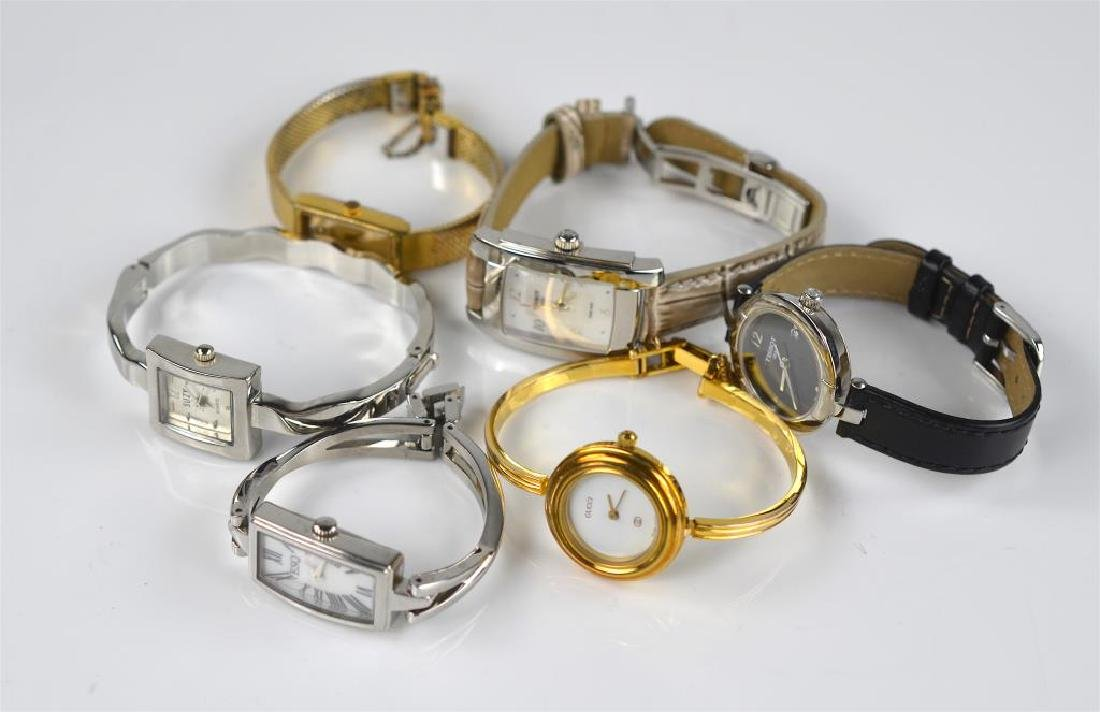 Lot of ladies wristwatches and watch case