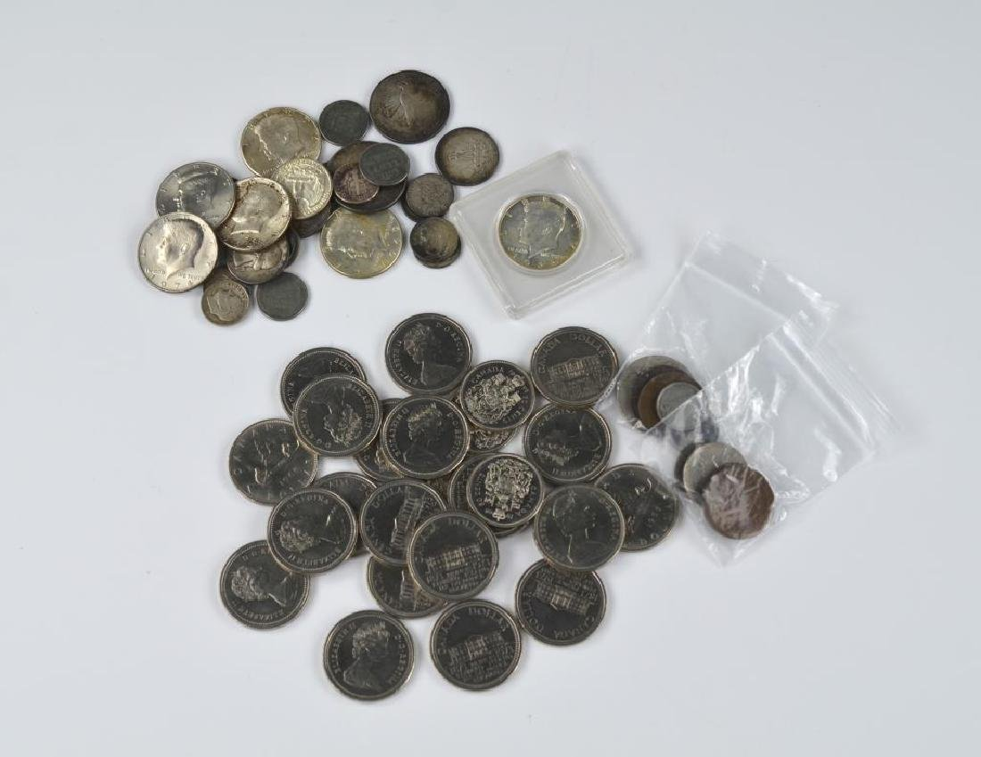Lot of Canadian and American coins incl. silver