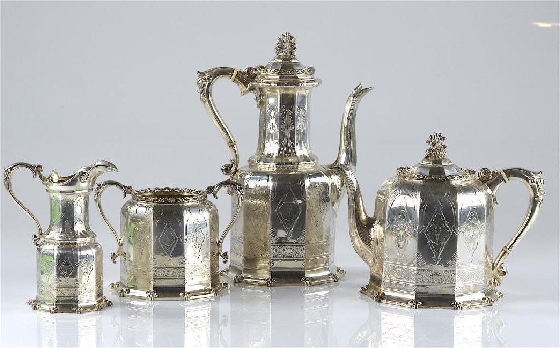 Victorian English silver tea & coffee set