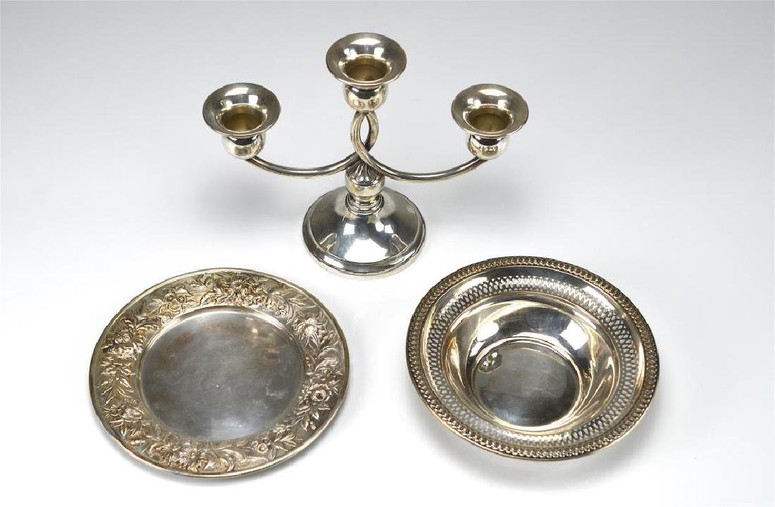 Three pieces of American silver