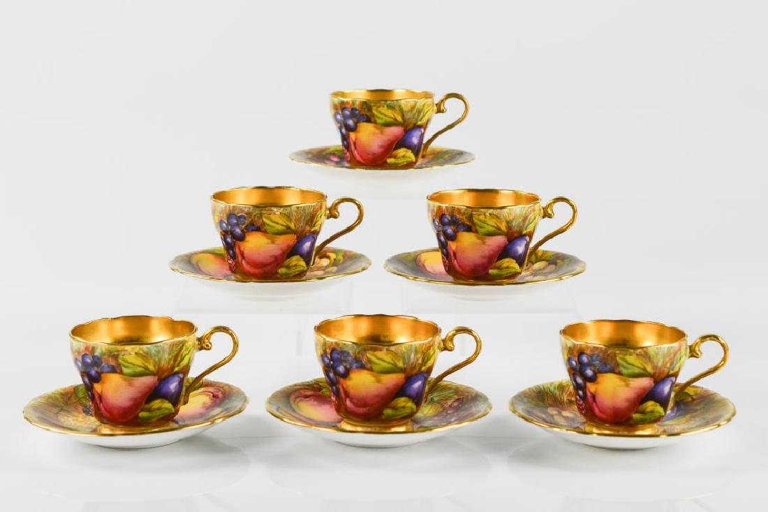Six English Aynsley C746 demitasse cups & saucers