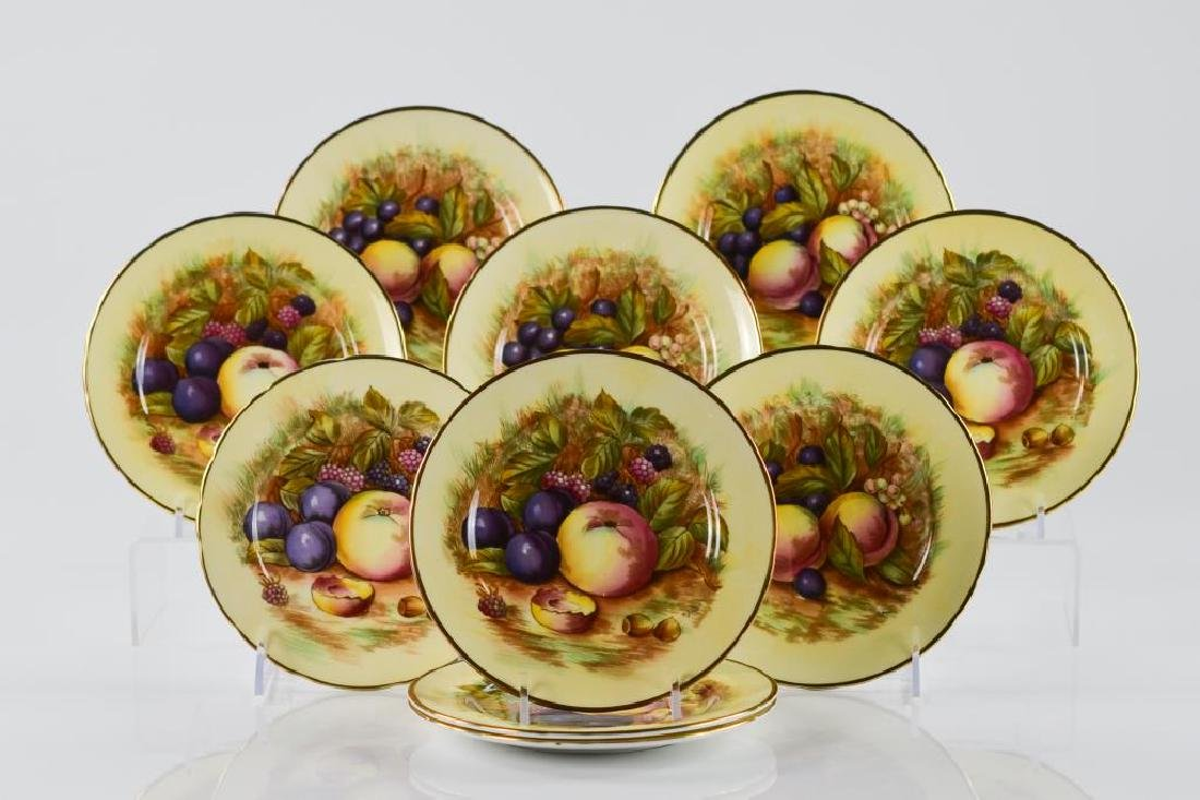 Ten English Aynsley 7956 dessert plates