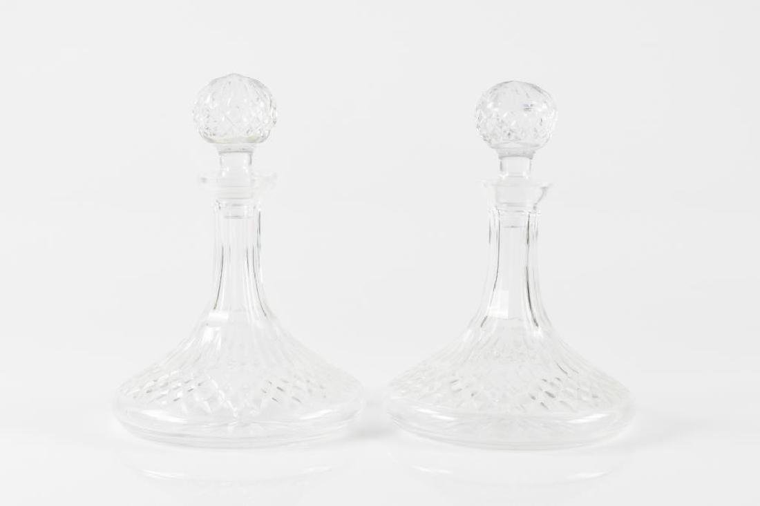 Pair of Waterford Lismore ships decanters