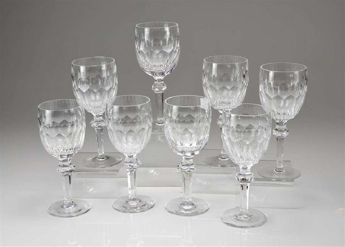 Eight Waterford Curraghmore water goblets