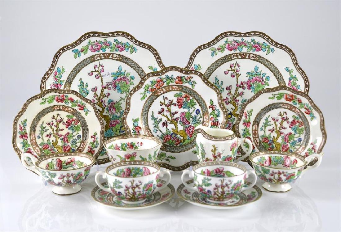 41 pieces of Coalport Indian Tree dinnerware