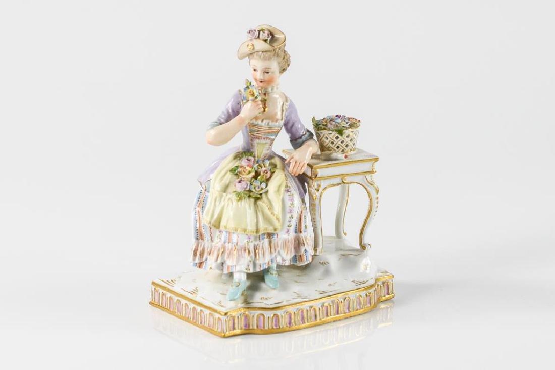 Meissen German porcelain figure of a woman