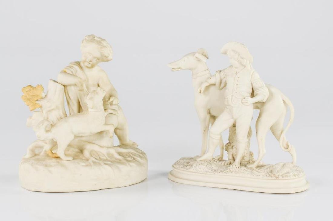 Two Parian figural groups