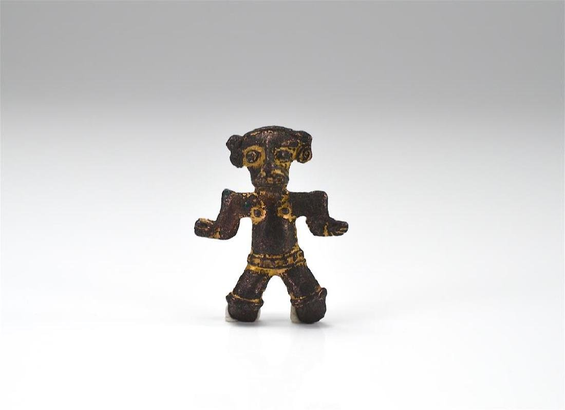 Pre Columbian cast metal figure