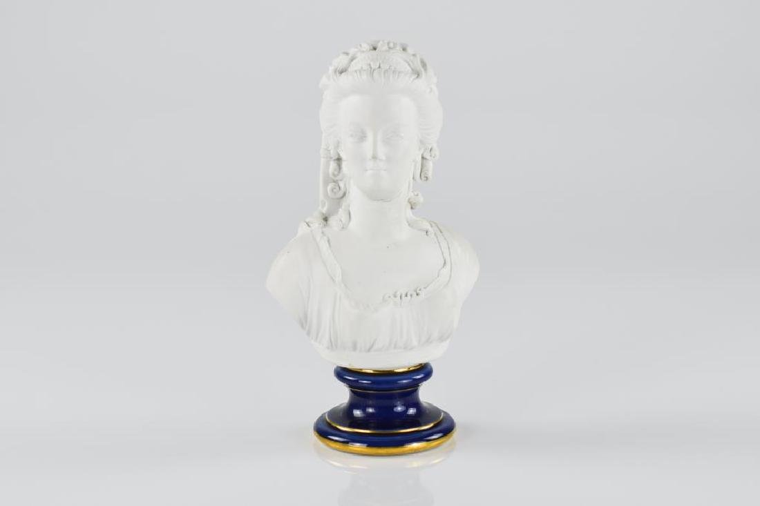 French Sevres porcelain bust of a female