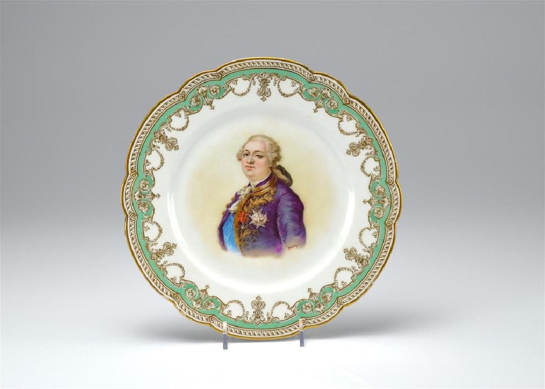 French porcelain portrait plate