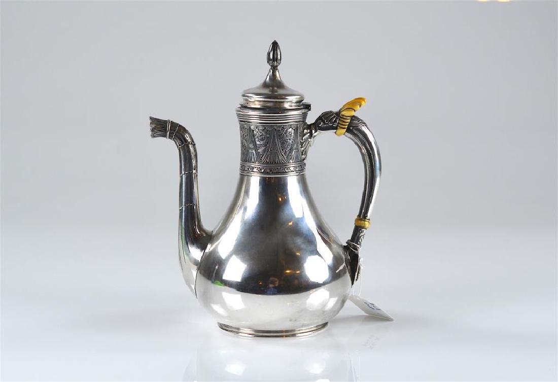 19th C American Gorham silver coffee pot