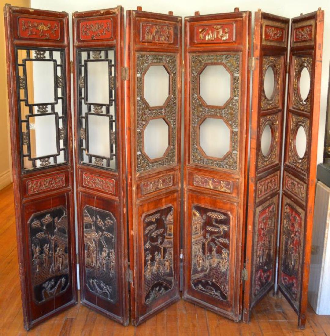 CHINESE SIX PANEL SCREEN