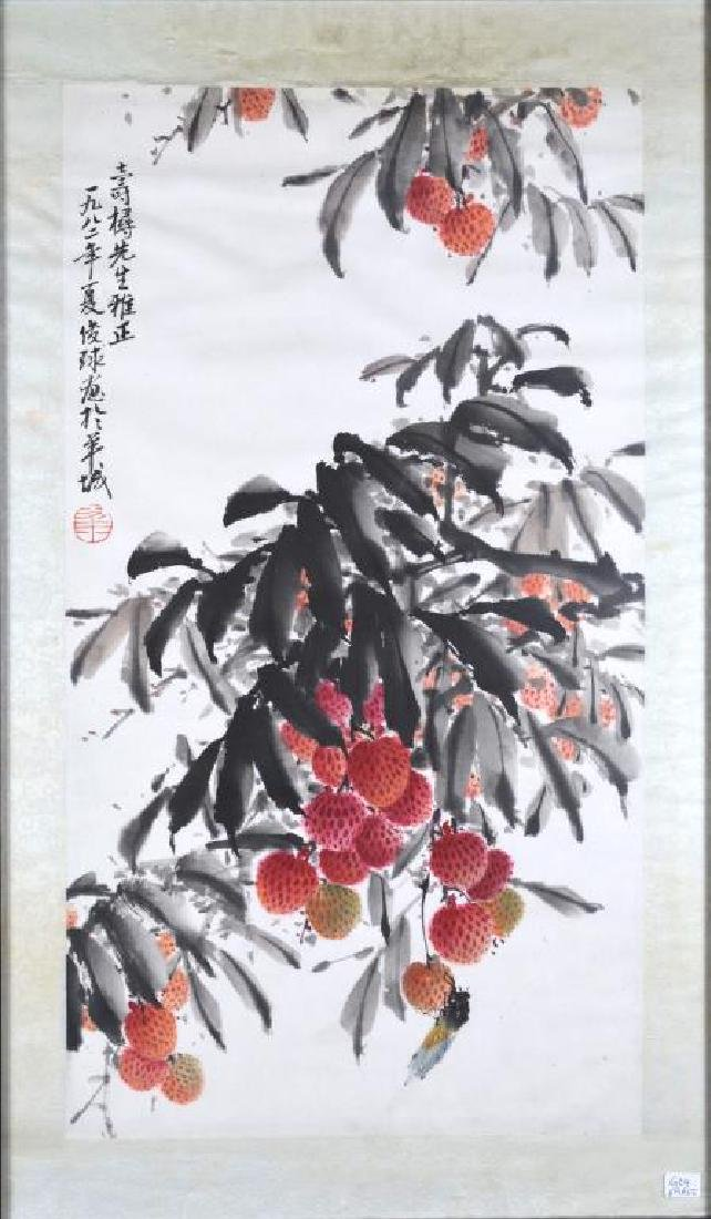 FRAMED CHINESE PAINTING ON PAPER