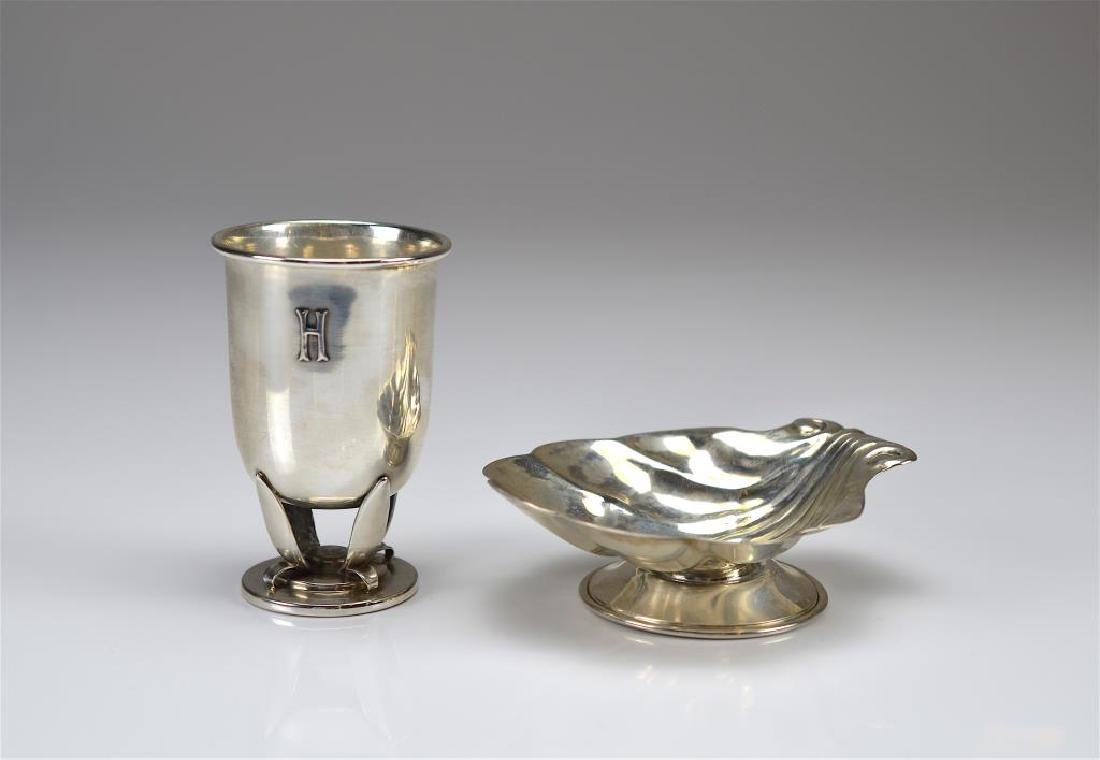 Two pieces of Canadian Poul Petersen silver
